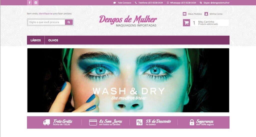 Dengos de Mulher layout personalizado e exclusivo loja integrada