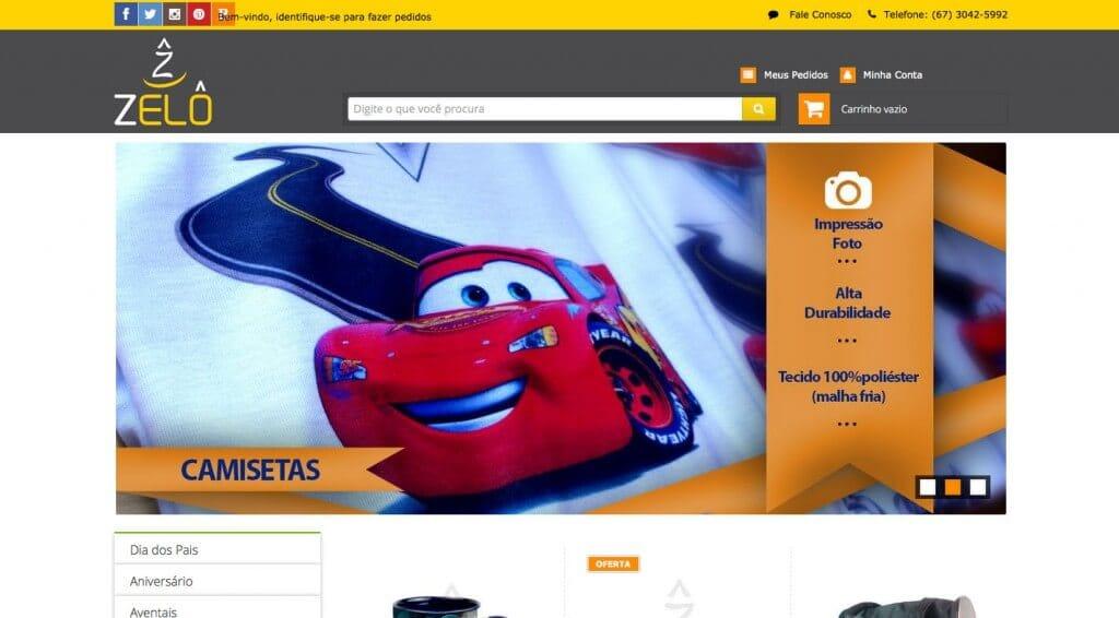 Zelô produtos personalizados layout personalizado e exclusivo loja integrada