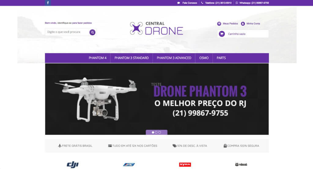 Central Drone layout personalizado e exclusivo loja integrada